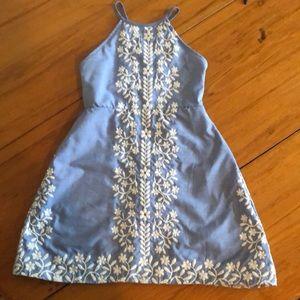 Rare Editions blue cross back sundress size 8